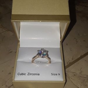 Gold Ring CZ round STN